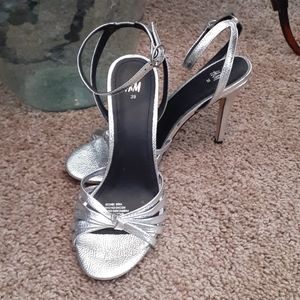 H & M Silver Metallic Stiletto